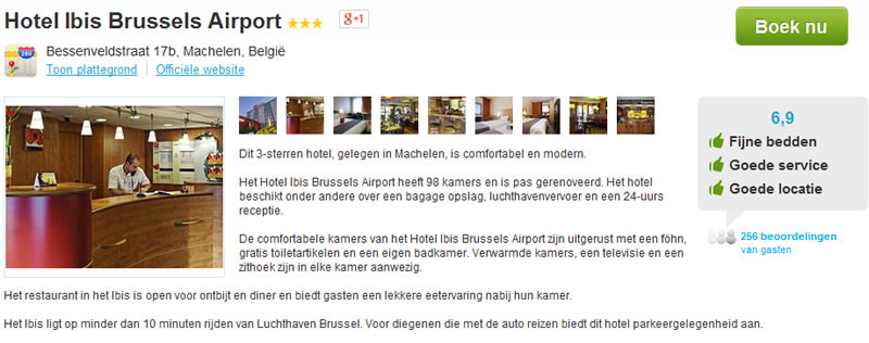 ibis hotel Brussel airport